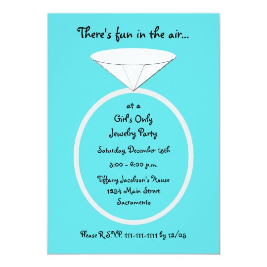 Jewellery Party Invitation Template