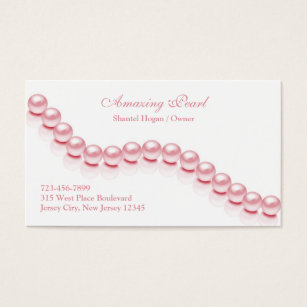 Pearl business cards business card printing zazzle uk jewellery pearl business card reheart