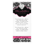 Jewellery Rack Card Damask White Black Pink Floral
