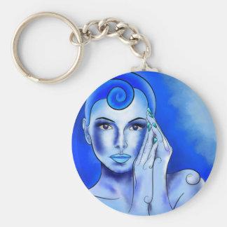 Jewellisina V1 - blue treasure Basic Round Button Key Ring