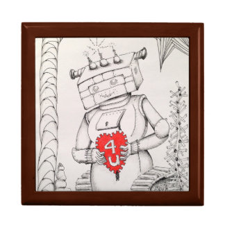 Jewelry Box Robot Original Art