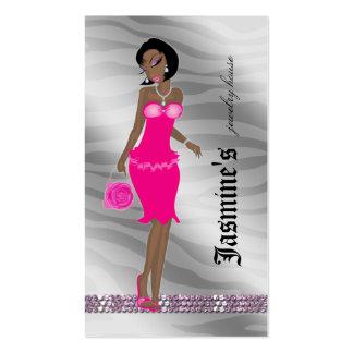 Jewelry Business Card African American Zebra SP