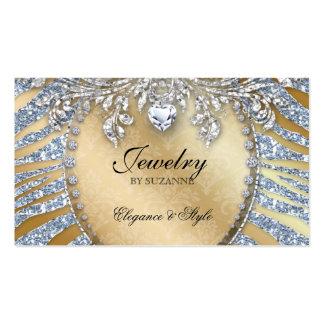 Jewelry Business Card Zebra Glitter Silver Gold