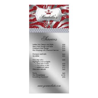 Jewelry Crown Rack Card Zebra Luxury Red Sparkle