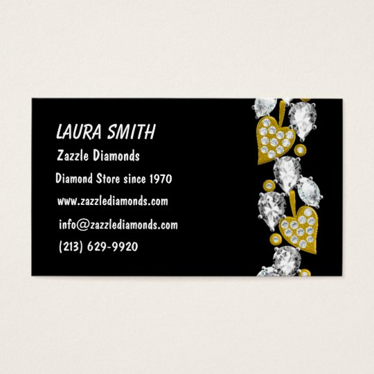 JEWELRY CUSTOMIZABLE BUSINESS CARD - Black