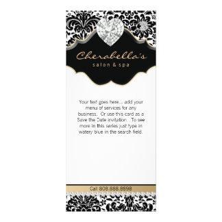 Jewelry Damask Beige Floral Salon Spa Fashion Custom Rack Cards