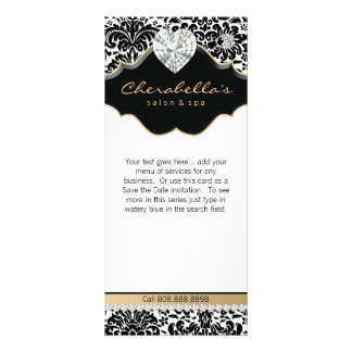 Jewelry Damask Beige Floral Salon Spa Fashion Rack Card