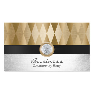 Jewelry Designer Modern Gold & Silver Pack Of Standard Business Cards