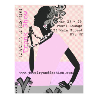 Jewelry Fashion Trunk Show Beauty Model 21.5 Cm X 28 Cm Flyer