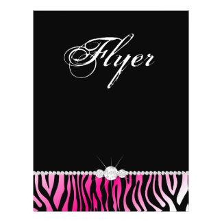 Jewelry Flyer Hair Salon Zebra Hot Pink
