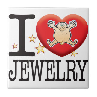 Jewelry Love Man Small Square Tile