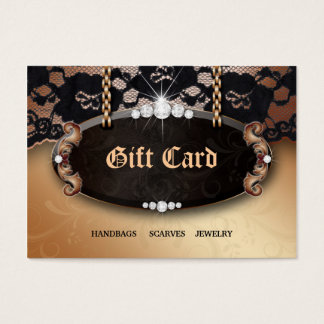 Jewelry N Lace Fashion Gold Gift Card