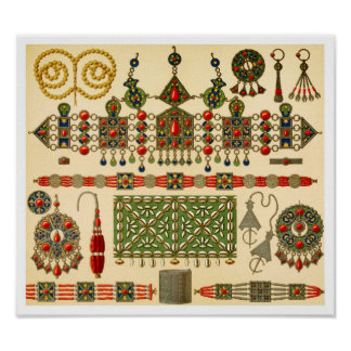 Jewelry of The Kabyle People in Algeria Print