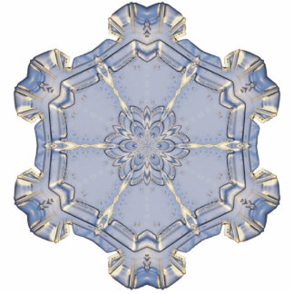 Jewelry - Pin - Digital Snowflake l Photo Cut Outs