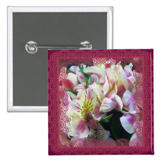 Jewelry - Pin - Peruvian Lilies in Lace