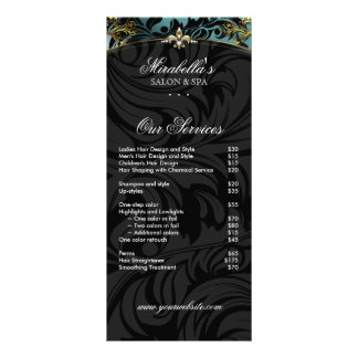 Jewelry Rack Card Fashion Fleur de lis Teal Gold