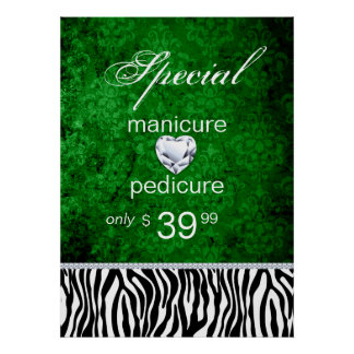 Jewelry Sale Damask Salon Zebra Irish Poster