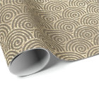 Jewelry Waves Art Deco Sepia Gold Circles Infinity Wrapping Paper