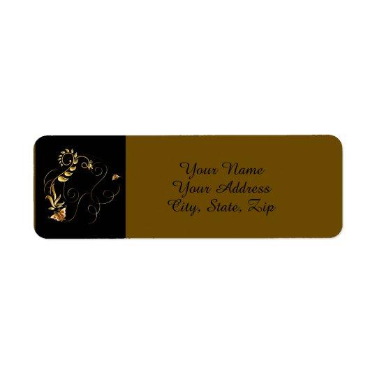 Jewels in Black Return Address Label