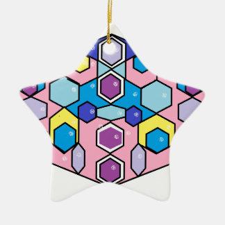 Jewels in the Box Ceramic Star Decoration