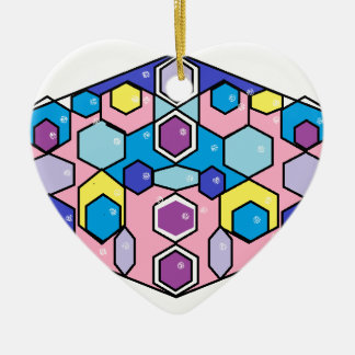 Jewels in the Box Ceramic Heart Decoration