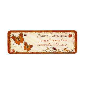 Jewels of Autumn Return Address Label