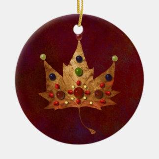 Jewels of Autumn Round Ceramic Decoration