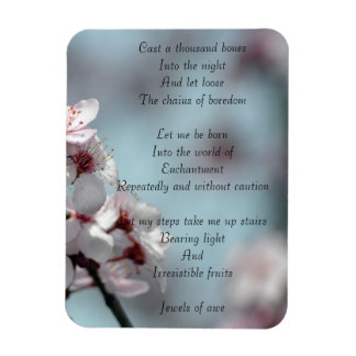 Jewels of Awe- Soul Poetry Rectangular Photo Magnet