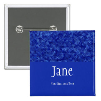 Jewels - Sapphire Name Badge Button