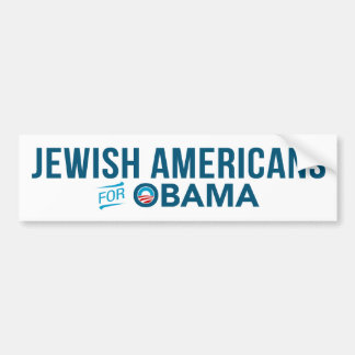 Jewish Americans For Barack Obama Bumper Sticker
