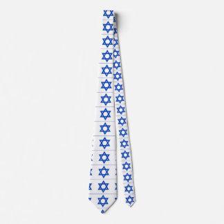 jewish blue star on white tie