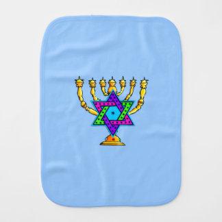 Jewish Candlesticks Baby Burp Cloths