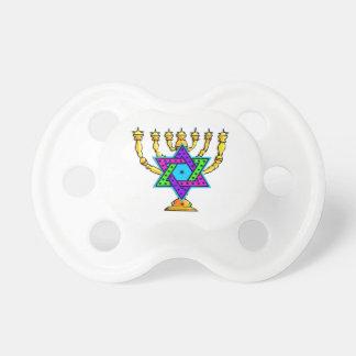 Jewish Candlesticks Baby Pacifier