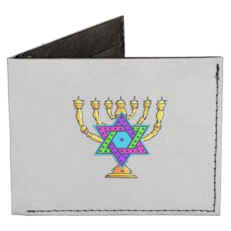 Jewish Candlesticks Billfold Wallet