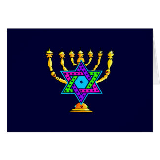 Jewish Candlesticks Card