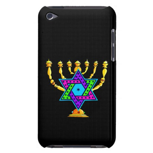 Jewish Candlesticks iPod Touch Case-Mate Case