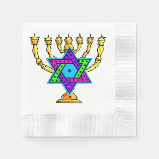 Jewish Candlesticks Disposable Serviette