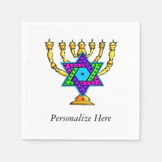 Jewish Candlesticks Disposable Serviettes