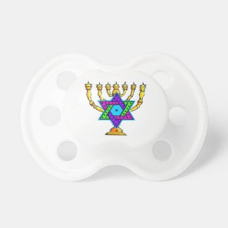 Jewish Candlesticks Baby Pacifier