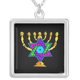 Jewish Candlesticks Pendant