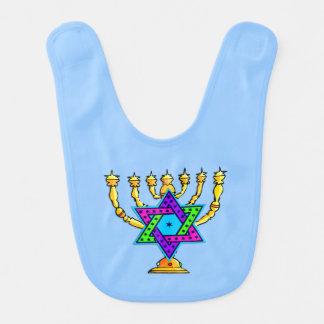Jewish Candlesticks Bib