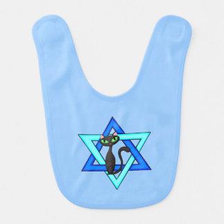 Jewish Cat Stars Baby Bibs