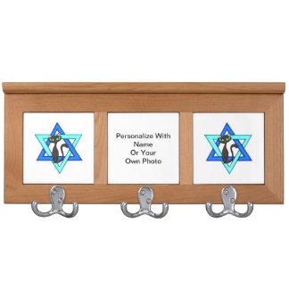 Jewish Cat Stars Coat Rack