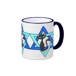 Jewish Cat Stars Coffee Mugs