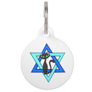 Jewish Cat Stars Pet ID Tag