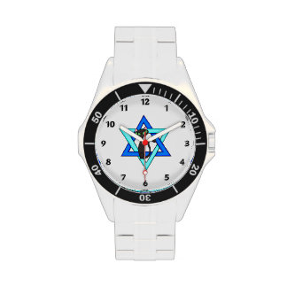 Jewish Cat Stars Wrist Watch
