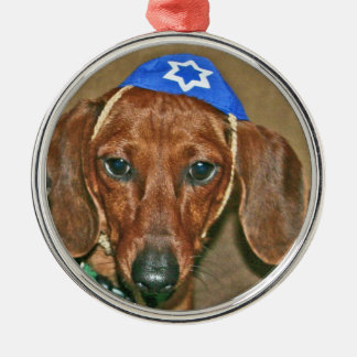 Jewish Doxie Christmas Ornament