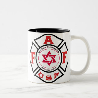 Jewish Firefighters LIGHT Two-Tone Coffee Mug