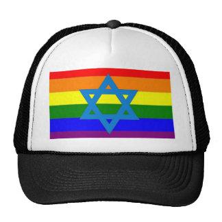 Jewish Gay Pride Flag Cap