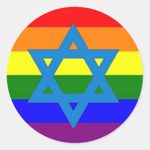 Jewish Gay Pride Flag Sticker